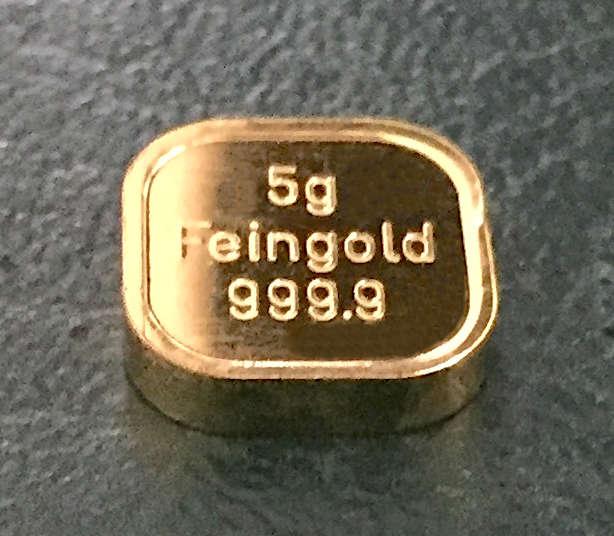 Goldtafel kaufen 5-Gramm-Gold-Barren-NES-9999