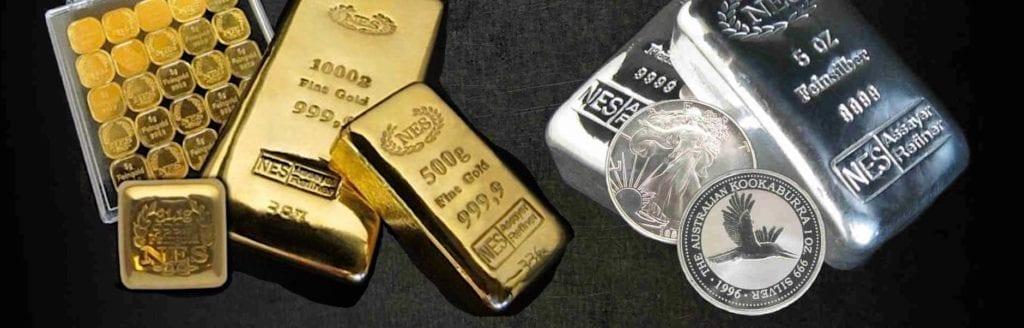 Gold u. Silberbarren Assayer-Refiner-NES-GROUP